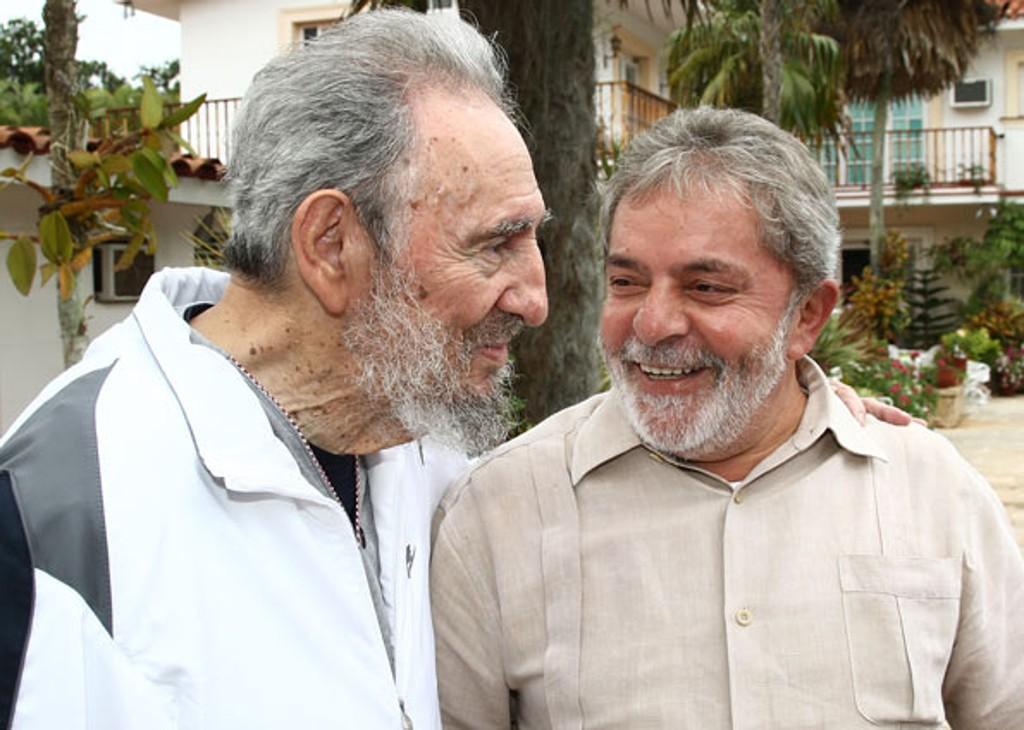Fidel Castro e Lula da silva