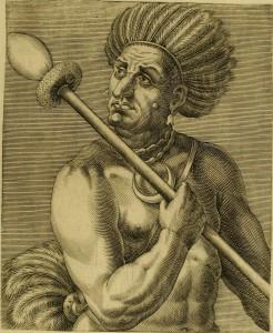 Cunhambebe, famoso cacique canibal, que se vangloriava de ter devorado grande quantidade de inimigos