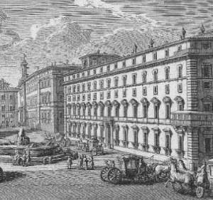 Palazzo Chigi, numa gravura do séc. XVI