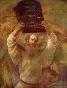 """""""Moisés com as Tábuas da Lei"""", Rembrandt (1659)"""