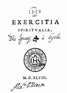 Primeira edição dos Exercícios Espirituais, em latim, de 1548.