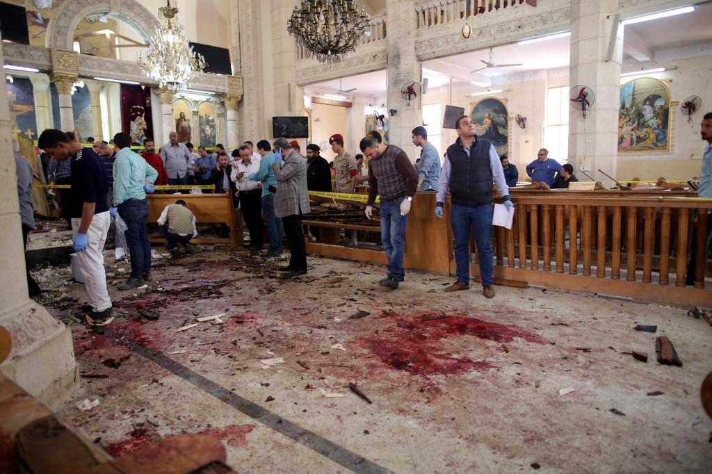 Atentado perpetrado por islamitas em igreja, no Domingo de Ramos (9-4-17), na cidade egípcia de Tantra