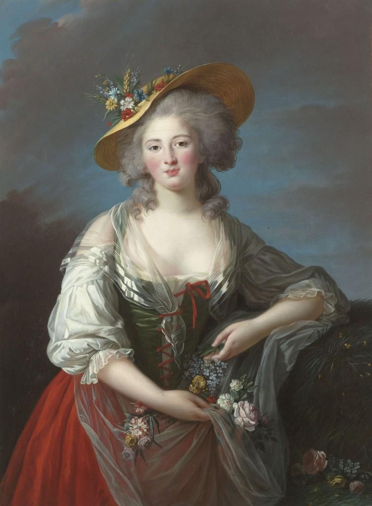 Élisabeth Philippine Marie Hélène de France (conhecida como Madame Elisabeth), irmã do Rei Luís XVI, nascera no Palácio de Versalhes em 3 de maio de 1764, morreu como mártir, guilhotinada na Revolução Francesa, em 10 de maio de 1794. (Pintura de Mme Vigée-Le Brun - 1782)
