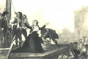 Gravura representando Madame Elisabeth na guilhotina