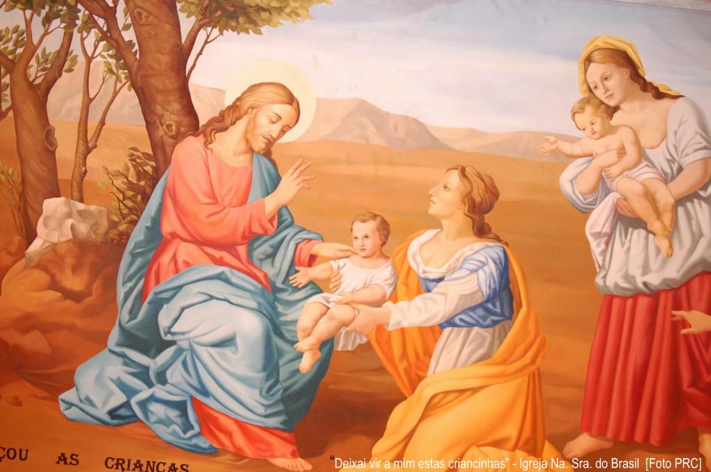 """""""Deixai vir a mim estas criancinhas e não as impeçais, porque o Reino dos céus é para aqueles que se lhes assemelham"""""""