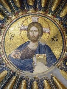 Cristo Pantocrator, Mosaico que se encontra na Igreja Chora, em Istambul, Turquia
