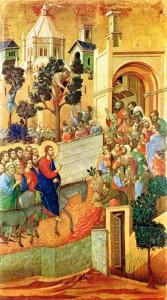 Domingos de Ramos - Duccio di Buoninsegna, séc. XIII. Museu del´Opera del Duomo, Siena (Itália).
