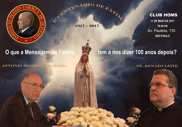 CONVITE — Conferência sobre o Centenário de Fátima