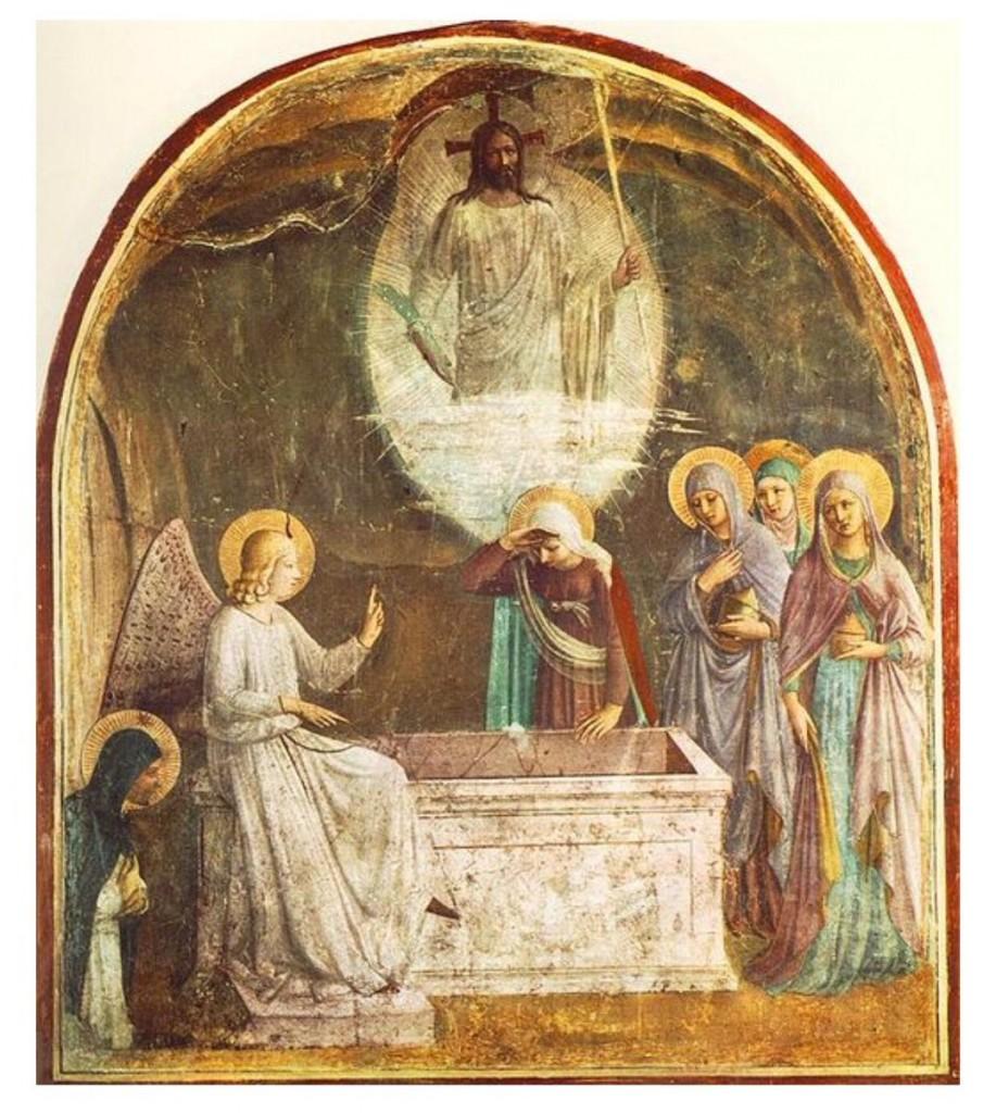 A Ressureição de Cristo (1441), afresco de Fra Angélico no Convento de São Marcos (Florença).
