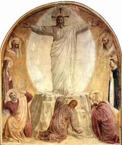 A Transfiguração de Cristo (1440), afresco de Fra Angélico no Convento de São Marcos (Florença).