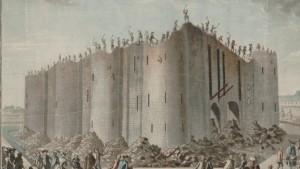"""A tomada da Bastilha"" - gravura do séc. XVIII"