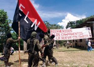 Acampamento do ELN, grupo guerrilheiro apresentado agora como sendo uma ameaça ao Estado colombiano.