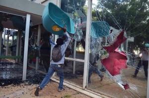 Depredações em Brasília, no dia 24 de maio