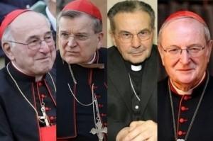 Cardeais Brandmüller, Burke, Caffara e Meisner