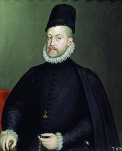 Felipe II (1527–1598), filho do Imperador Carlos V, do Sacro Império, Rei da Espanha de 1556 até sua morte.