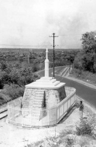 Outeiro da Cruz, marco do local a Nossa Senhora apareceu
