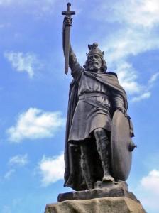 Estátua de Alfredo, o Grande, em Wincheste