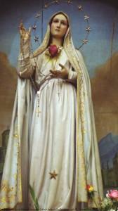 Imagem de Na. Sra. de Fátima do Imaculado Coração, Igreja de São Bartolomeu (séc. X), Coimbra [Foto PRC]