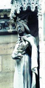 Estátua de São Luís IX na parte exterior da Sainte Chapelle (Paris) [Fotos: Felipe del Campo]