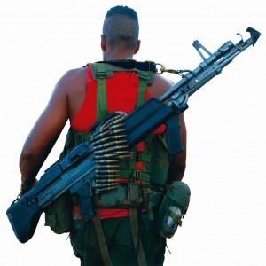 Guerrilheiro das FARC fortemente armado