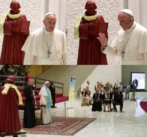 Em 15 de janeiro de 2016 a Santa Comunhão foi distribuída a um grupo de luteranos finlandeses durante a celebração da Santa Missa na Basílica de São Pedro. E, em 13 de outubro de 2016, o Papa Francisco presidiu um encontro de católicos e luteranos no Vaticano dirigindo-se a eles a partir de um anfiteatro no qual se erguia uma estátua de Martinho Lutero...