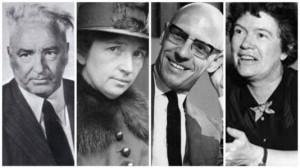 Quatro dos principais promotores da Ideologia de Gênero: Wilhelm Reich, Margaret Sanger, Michel Focault e Margaret Mead.