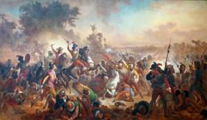 Batalha dos Montes Guararapes - Victor Meirelles, 1879. Museu Nacional de Belas Artes, Rio de Janeiro
