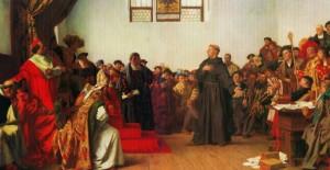 """""""Eu não posso e não vou me retratar"""". Com essas palavras, Lutero defende seus escritos na """"Dieta de Worms"""", em abril de 1521"""