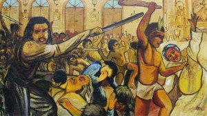 No meio da celebração, soldados e comerciantes holandeses, auxiliados por índios tapuias do Potengi pervertidos à religião de Lutero, trancaram as portas da capela e iniciaram um massacre.