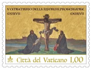 31-10-2917 —Vaticano lançou um selo comemorativo do V centenário da Reforma Protestante! Na estampilha, tem como fundo a cidade Wittenberg, berço da heresia luterana