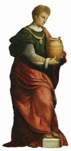 Adoração dos Reis Magos (detalhe) - Benvenuto Tisi da Garofalo, séc. XVI. Rijksmuseum, em Amsterdã, Países Baisos.