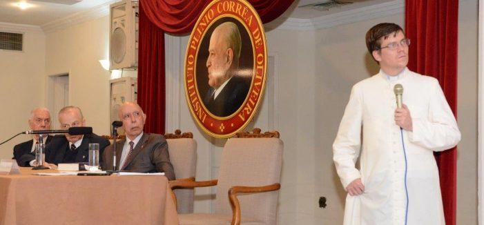 Conferência de um missionário católico no Tibet