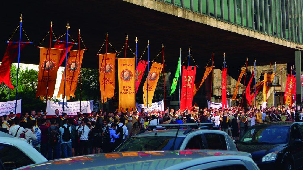 Campanha na Avenida Paulista, em São Paulo