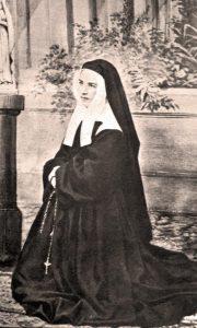 Santa Bernadette no convento de Nevers