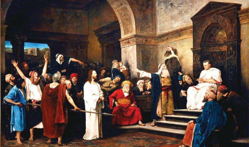 Jesus Cristo diante de Pilatos – Munkácsy Mihály, séc. XVIII. Coleção Particular.