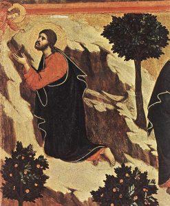 Oração no Horto (La Maestà, detalhe) Duccio di Buoninsegna, séc. XIV. Museo dell'Opera del Duomo, Siena.