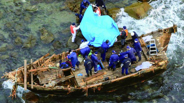 """Barcos fantasmas"" norte-coreanos lotados de cadáveres"