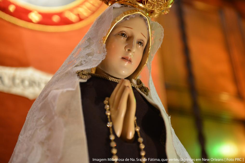 Imagem Milagrosa de Na. Sra. de Fátima, que verteu lágrimas em New Orleans [Foto PRC]