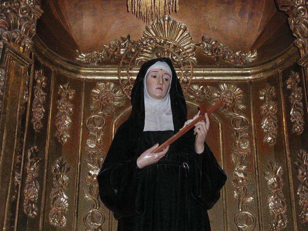 Santa Rita, venerada na Igreja de Sto. Agostinho de Quito [Foto Carlos Tadeu]