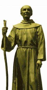 Frei Junípero, missionário franciscano, dedicou sua vida à conversão dos índios no que hoje é o México e parte dos Estados Unidos. Foi canonizado recentemente.