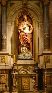 Imagem do Sagrado Coração de Jesus que fica na igreja de mesmo nome em São Paulo [Fotos PRC]