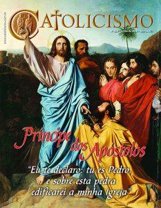 Capa da Revista Catolicismo, Nº 810, Junho/2018. Cristo entrega as chaves a São Pedro – Jean Auguste Dominique Ingres, 1820. Museu Ingres, Montauban (França).