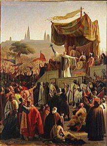 São Bernardo, em 1146, pregando a 2ª Cruzada em Vézelay