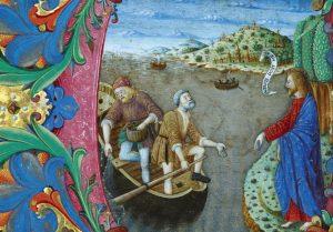 Cristo chama Pedro e André – Giovanni Antonio Decio, 1480. Coleção Particular, San Francisco (EUA).