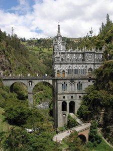 Santuário de Nossa Senhora de Las Lajas, em Ipiales, no sul da Colômbia.