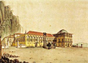 Vista do Paço Real durante o reinado de Dom João VI (1817).