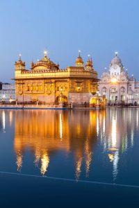 O Temple Dourado da cidade de Amritsar (Punjab, India)