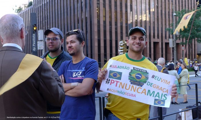 ELEIÇÕES 2018: Vitória do anti-petismo, atmosfera desinfestada
