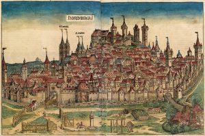 Representação de Nuremberg poucos anos antes da apostasia, quase geral, nas garras da heresia luterana.
