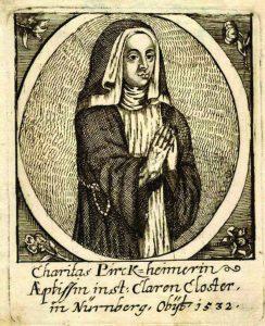 Retrato de mulher, do pintor Albert Dürer, não assinado: os especialistas julgam que representa a Irmã Caridade Pirckheimer.